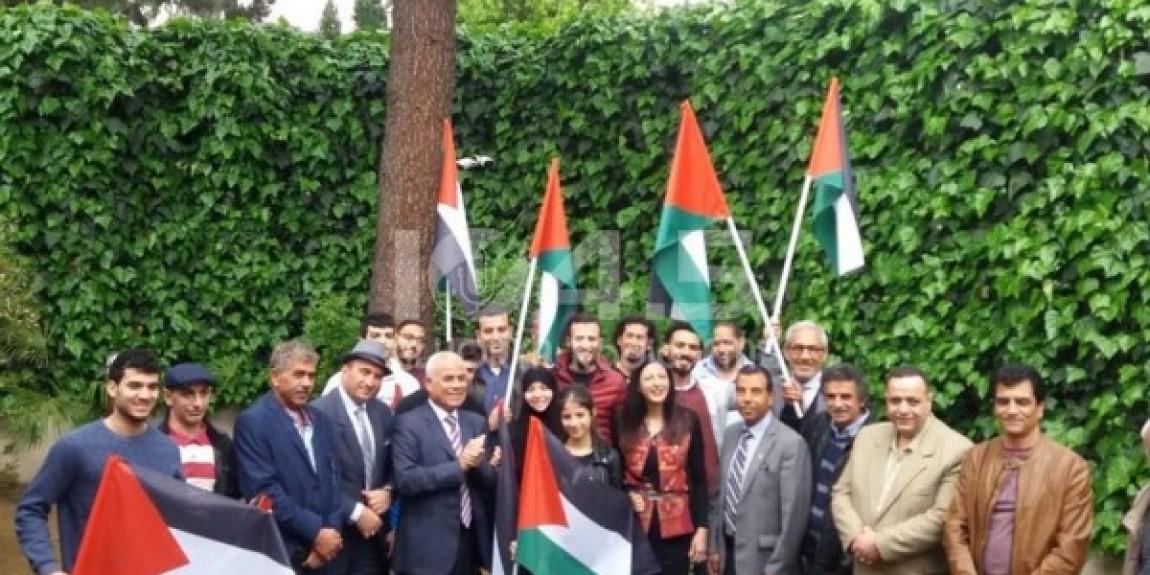طاقم سفارة فلسطين في ألبانيا