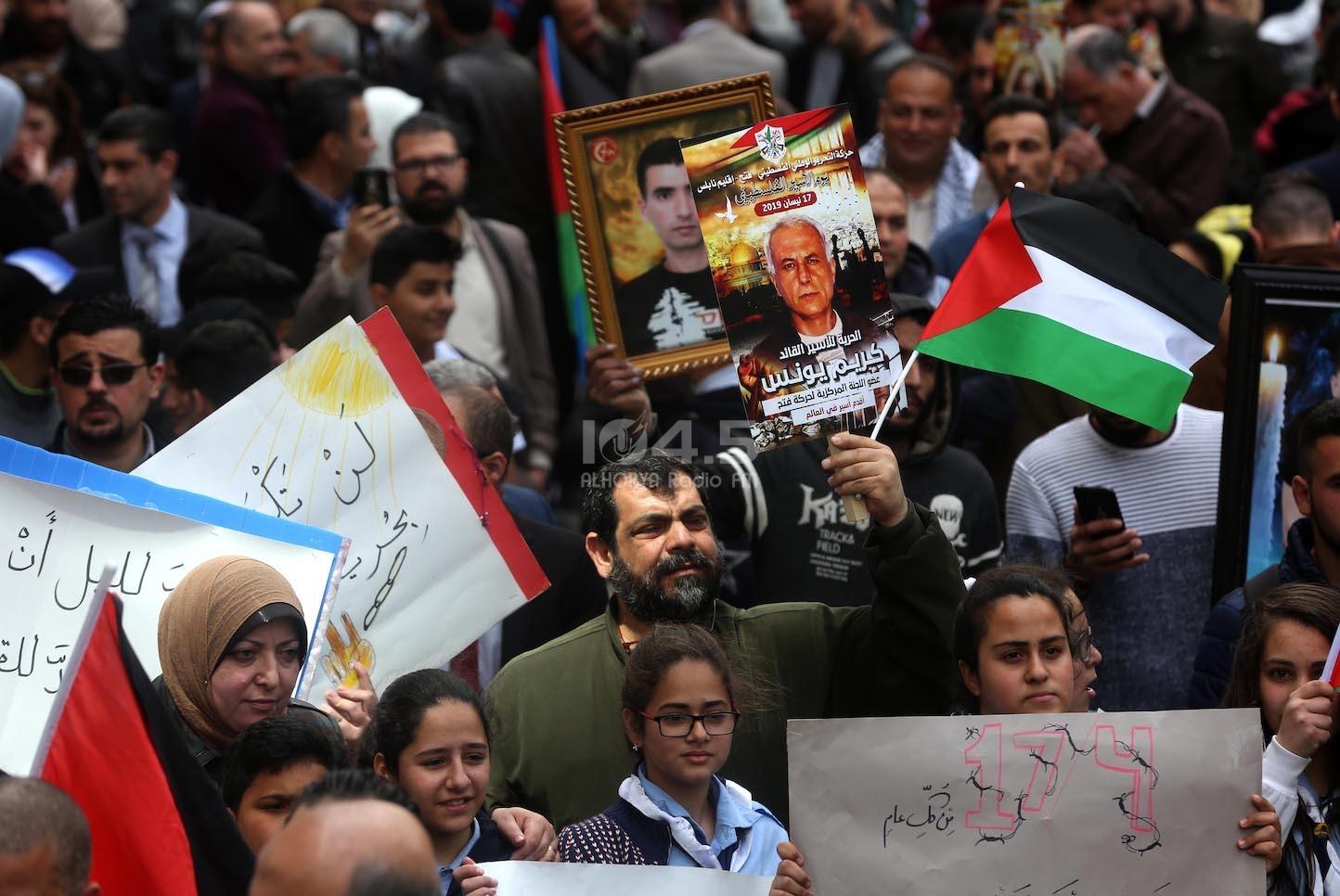 صور: نابلس - مسيرة حاشدة لمناسبة يوم الأسير الفلسطيني