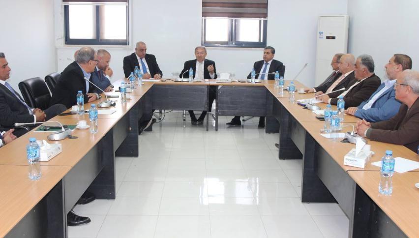 العسيلي يلتقي اتحاد جمعيات رجال الأعمال الفلسطينيين