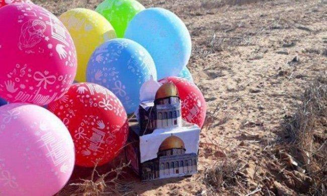 """بالون يحمل عبوة ناسفة يسقط في قاعدة عسكرية """"إسرائيلية"""" قرب غزة"""