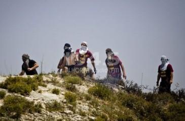 نابلس: المستوطنون يشعلون الاطارات ويرشقون المارة بالحجارة