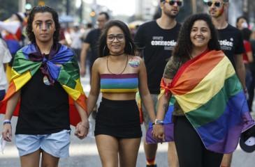 مئات الآلاف يشاركون في مسيرة لدعم المثلين في البرازيل
