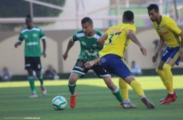 """تعادل """"الأخضر"""" و""""الجدعان"""" في ذهاب نهائي كأس فلسطين"""
