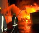حريق كبير في مستودع شمال قطاع غزة