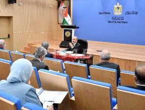خلال جلسة مجلس الوزراء: اشتية يؤكد على سيادة النظام وحماية القانون